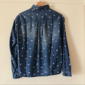 Uniqlo Tops - UNIQLO Jean Button Down Western Shirt Size S